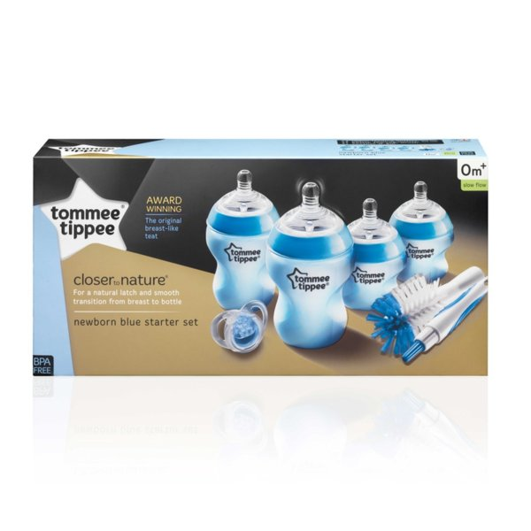 Tommee Tippee Комплект за новородено антиколик + Четка за шишета синя 42356741